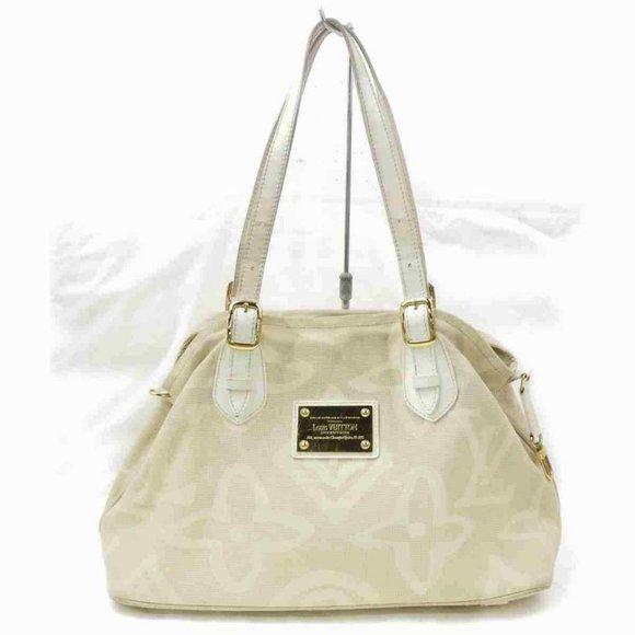 Louis Vuitton Handbags - Louis Vuitton Tahitienne Cabas PM Beige Tote Rare